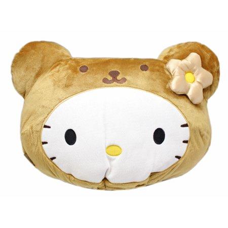Hello Kitty Costume Head (Hello Kitty Wearing a Teddy Bear Costume Plush Headrest)