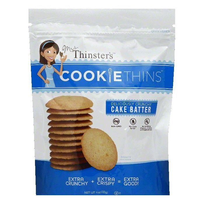 Mrs Thinsters Cake Batter Cookie Thins, 4 OZ (Pack of 12)