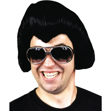 Black Rock Star Wig Adult Halloween Accessory
