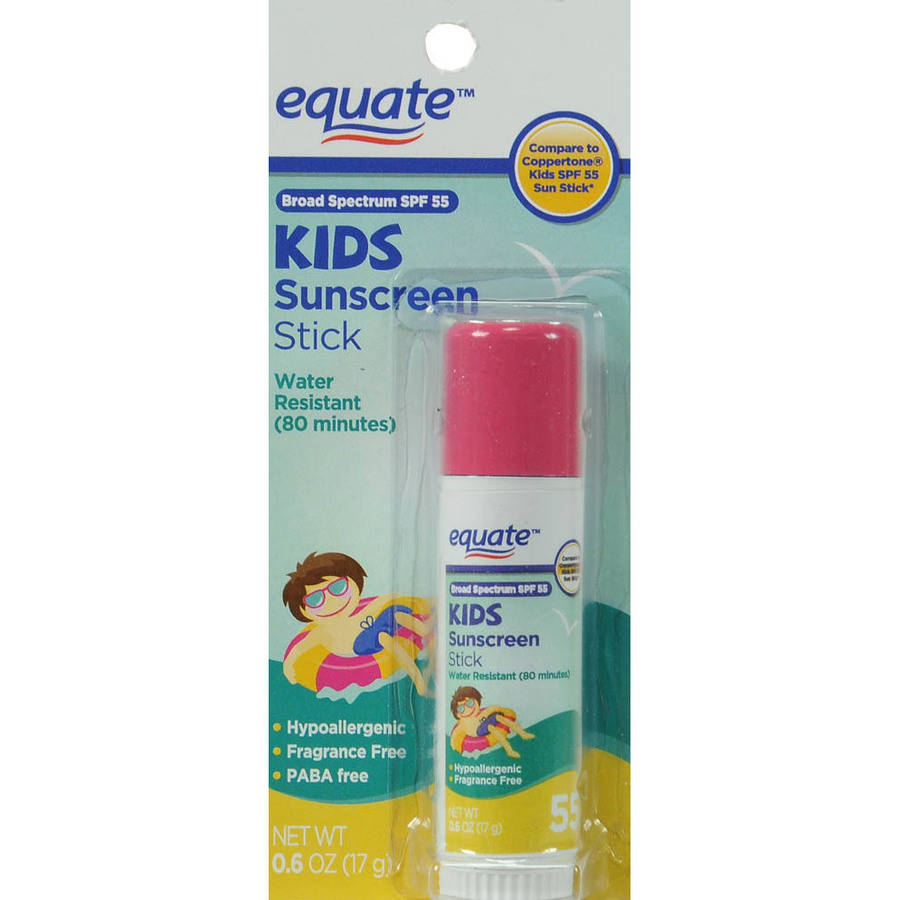 Equate Kid's Sunscreen Stick, SPF 55, 6 Oz