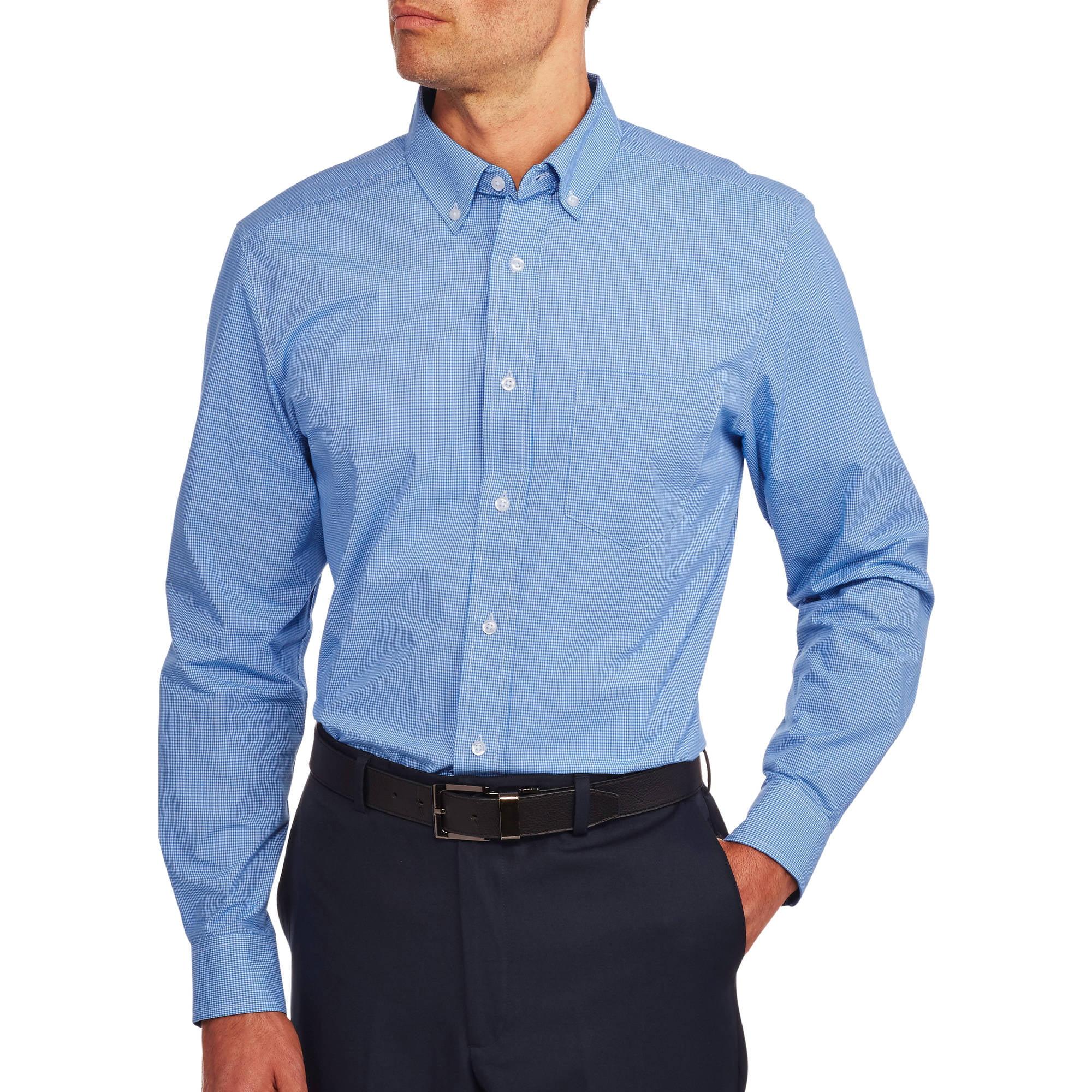 Long sleeve black collared dress shirt