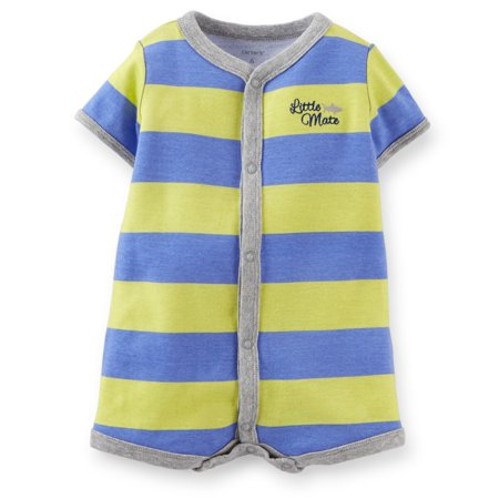 Carters Baby Clothing Outfit Cotton Blue/Green Big Striped Creeper