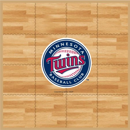 MLB Minnesota Twins Portable Foam Puzzle Tailgate Floor Mat by