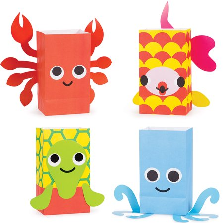 French Party Favors (Pack of 96 Juvi French Bull Ocean Paper Treat Bags with Attachments)