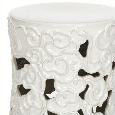 Safavieh Ceramic Garden Stool In White Walmart Canada