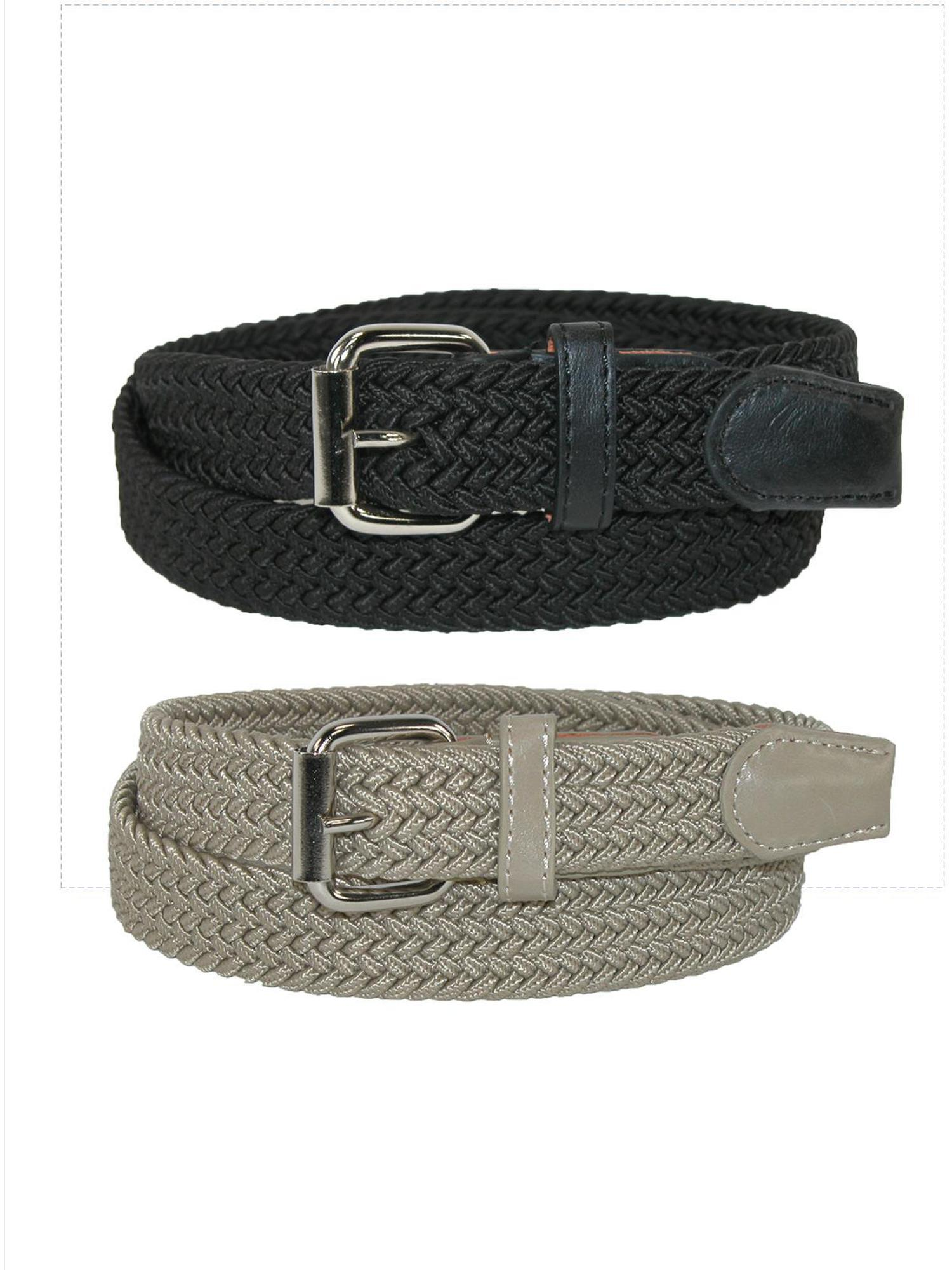 Kid's Elastic Braided Stretch Belt (Pack of 2 Colors)