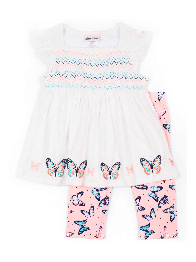 Little Lass Dot Tiered Dress/&Leggings Set-Toddler Girl/'s Size:6-6X