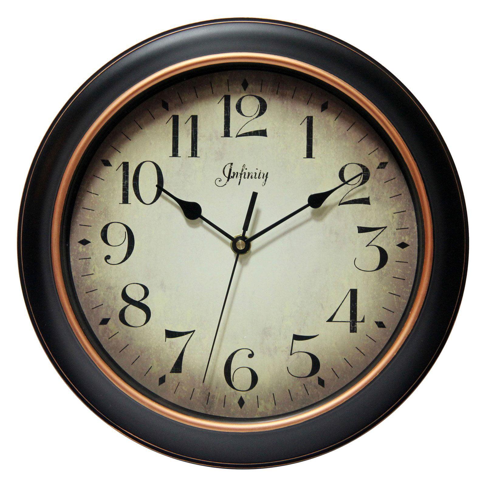 Infinity Instruments Hanover 12 Silent Wall Clock Walmartcom