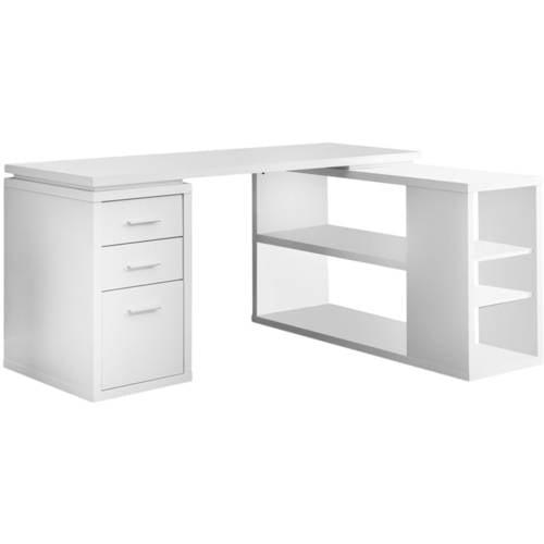 Monarch HollowCore Left or Right Facing Corner Desk White