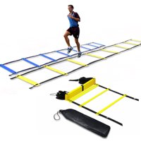 Pro Agility Ladder, 10 Rung Agility Training Ladder, Fixed Rungs Speed Ladder, for Soccer, Football, Sports, Exercise, Workout, Footwork Training, with Carrying Bag