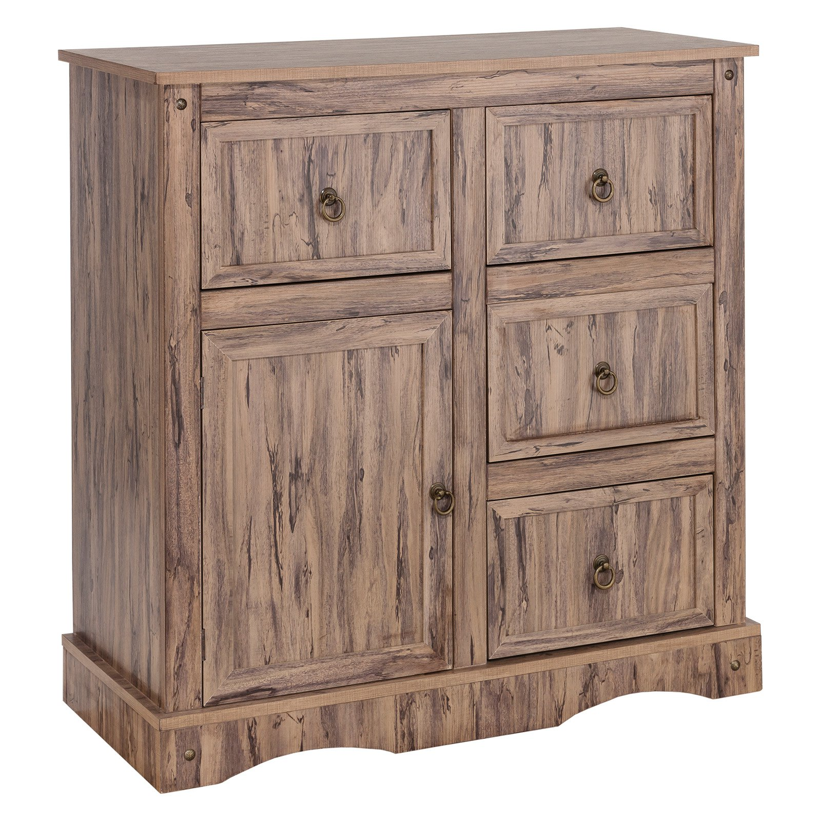 Elegant Home Fashions Simplicity 4 Drawer Buffet