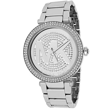 Army Logo Watch - Women's Parker Stainless Steel Logo Glitz Watch, MK5925