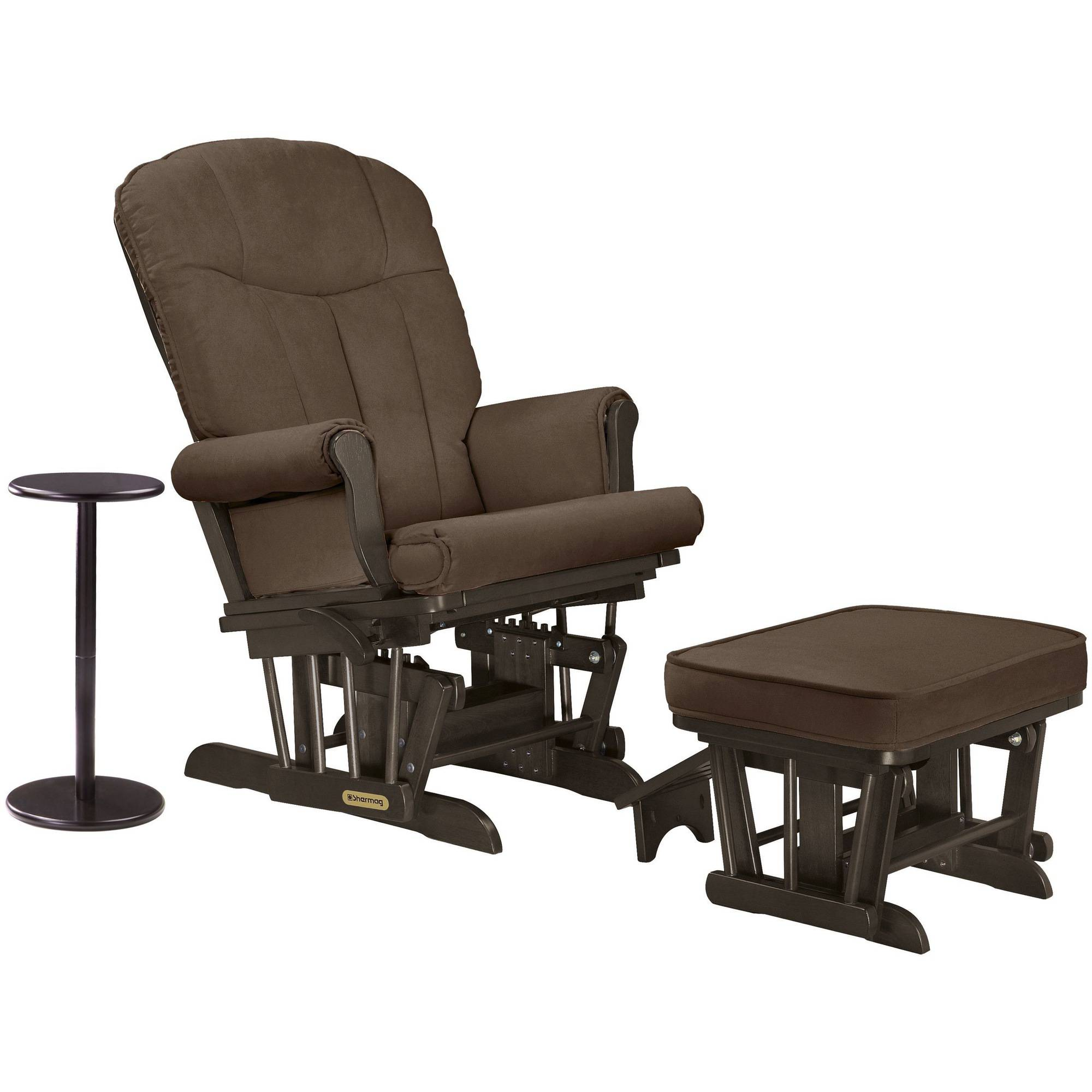 Shermag Combo Glider/Ottoman/Coffee Table, Espresso/Bella Mocha