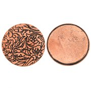 Nunn Design Antiqued Copper Plated Round Pendant Tag 31mm (1)