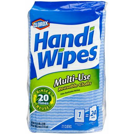 Clorox Handi Wipes Multi-use Reusable Cloths, 72 -