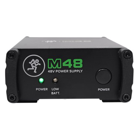 Mackie M48 48v Phantom Power Supply For Studio Gear+Condenser Microphones
