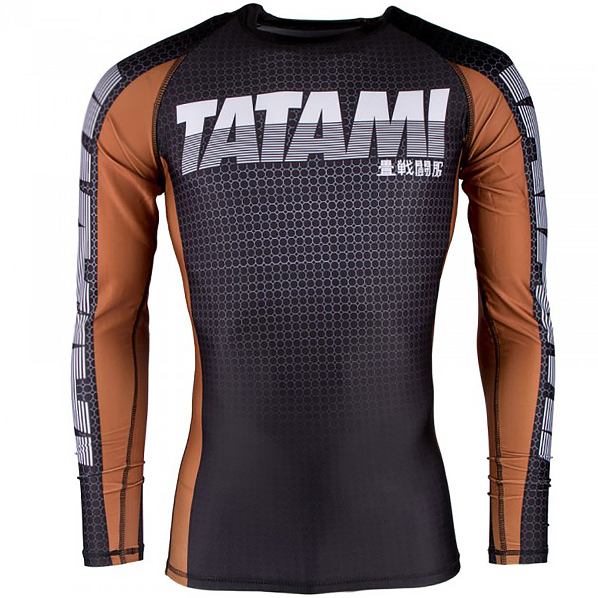 Tatami Fightwear 2017 IBJJF Rank Long Sleeve MMA Rashguard - Brown