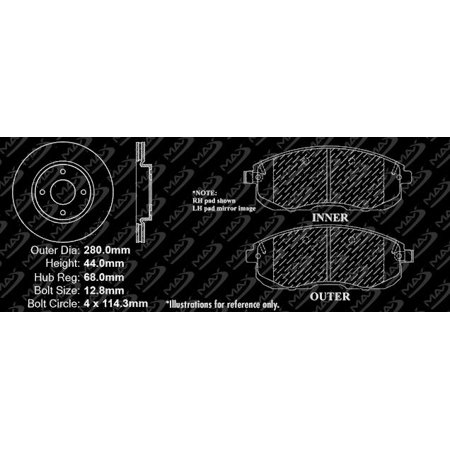Max Brakes Front Premium XDS Rotors and Ceramic Pads Brake Kit | KT041631-12 - image 6 de 8