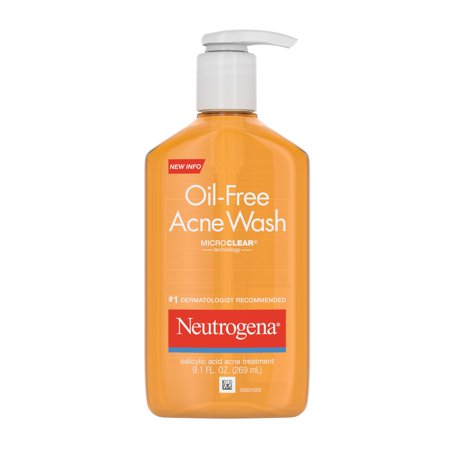 Neutrogena Oil-Free Acne Facial Cleanser, Oily, 9.1 fl oz