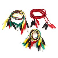 Uxcell 22 Pcs Single/Dual Double-ended Wire Test Leads Alligator Clips Jumper