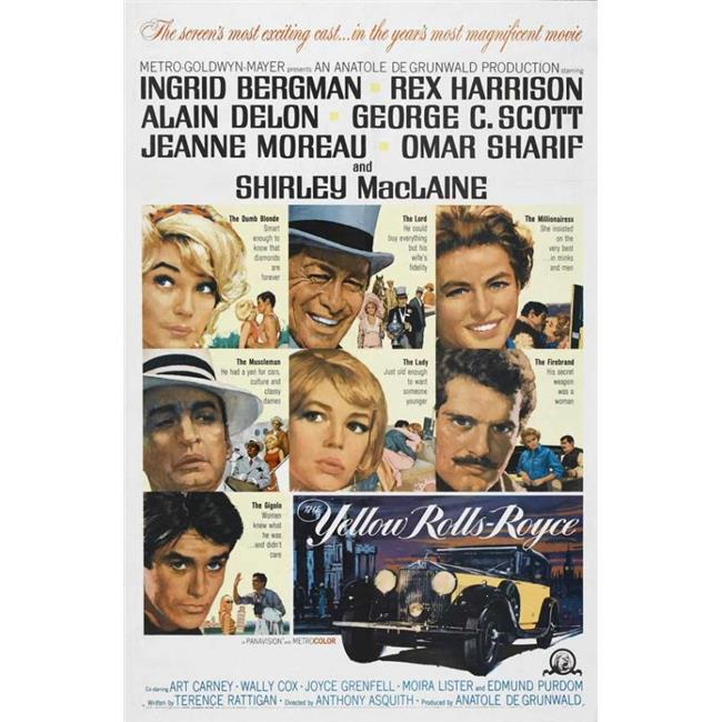 Posterazzi MOVGB95560 The Yellow Rolls-Royce Movie Poster - 27 x 40 in. - image 1 of 1