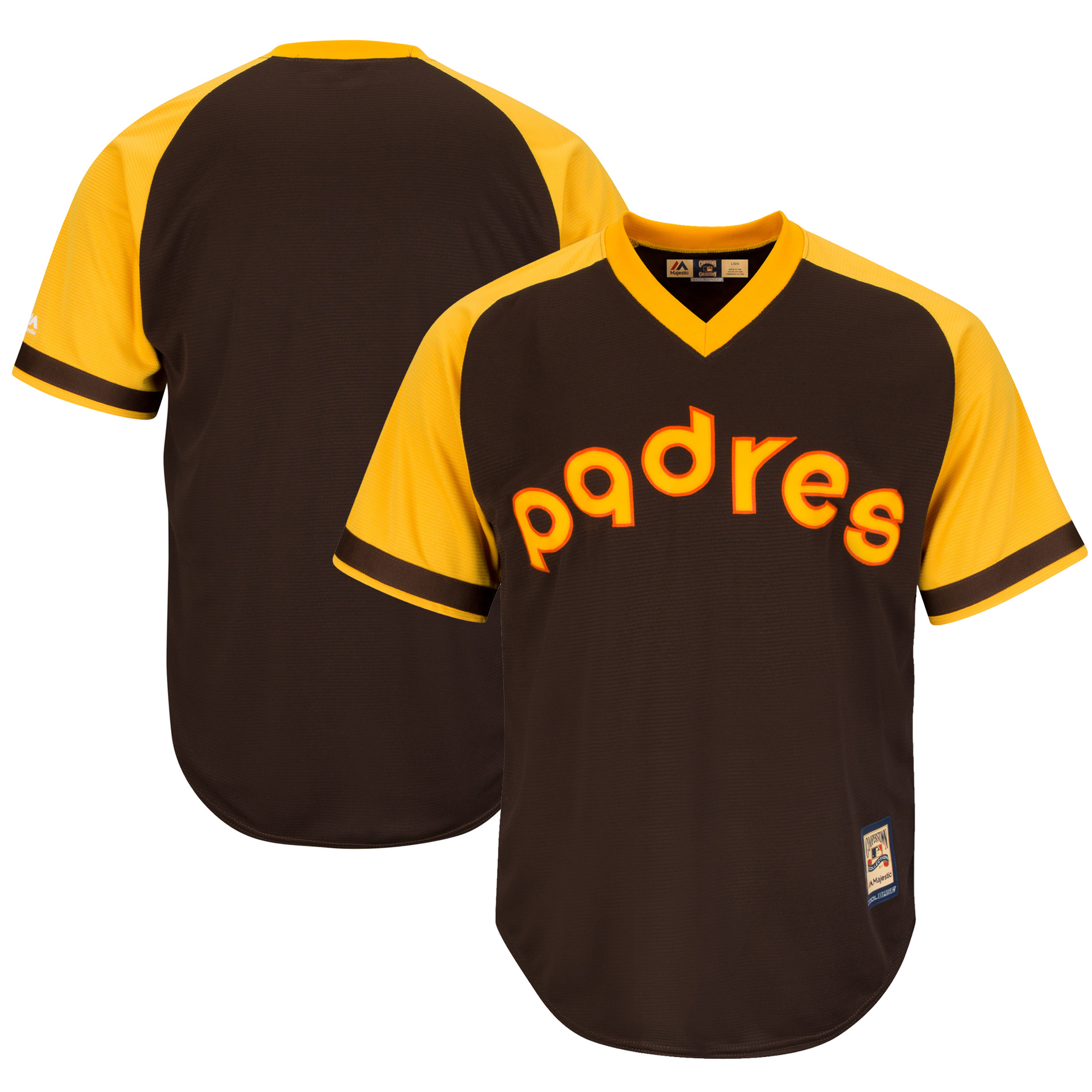 San Diego Padres Majestic Cooperstown Cool Base Team Jersey - Brown