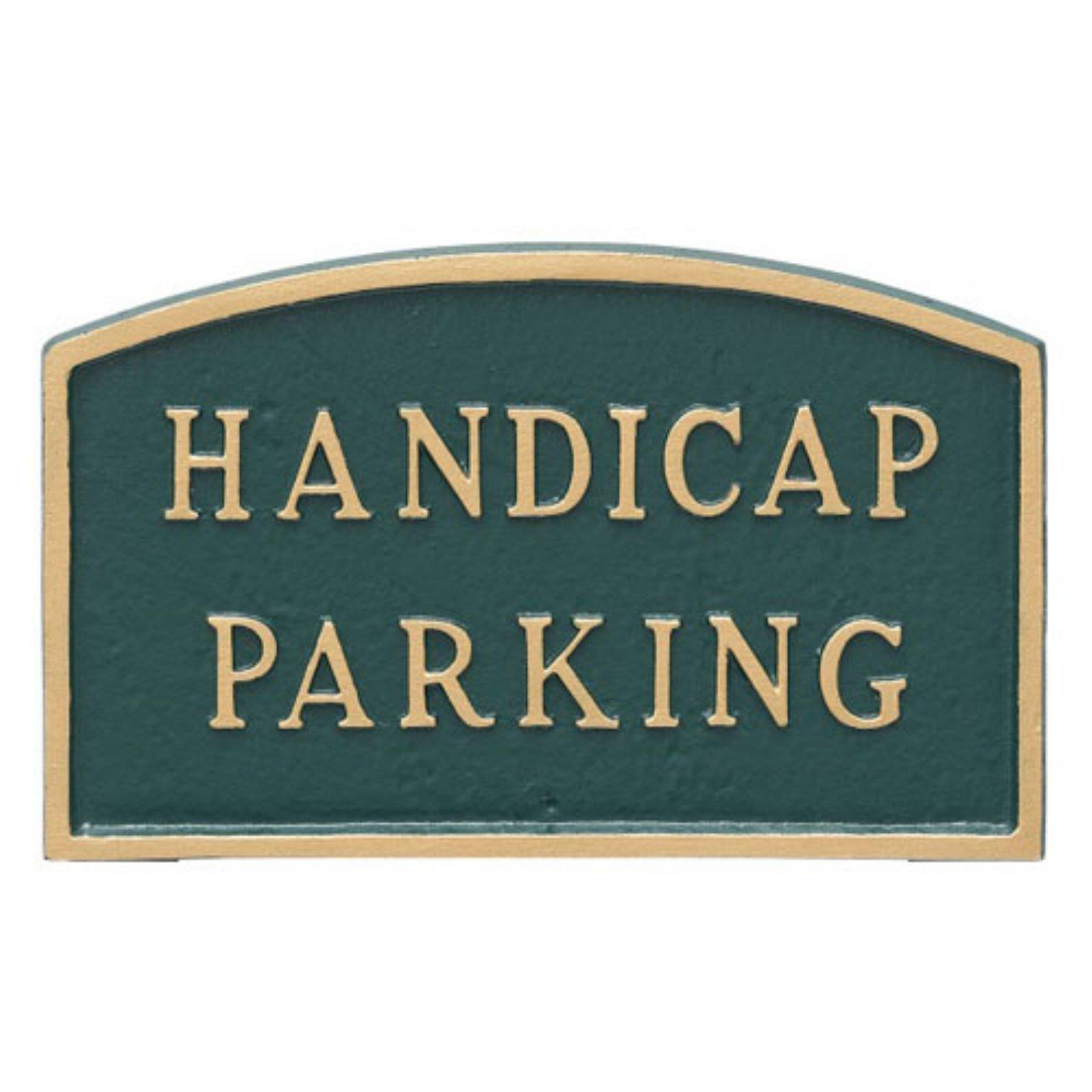 Montague Metal Products Handicap Parking Arched Wall Plaque