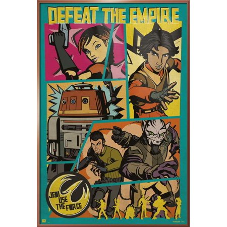 "Star Wars Rebels - Framed TV Show Poster / Print (Pop-Art - Defeat The Empire) (Size: 24"" x 36"")"