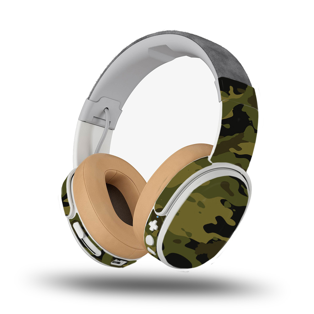 Skin for Skullcandy Crusher Wireless Headphones - Green Camouflage| MightySkins Protective, Durable, and Unique Vinyl Decal wrap cover | Easy To Apply, Remove, and Change Styles | Made in the USA