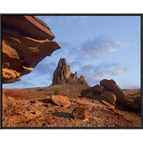 East Urban Home 'Rock Formation' Framed Photographic Print on Canvas