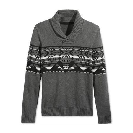 American Rag Womens Geo Pullover Sweater charcoalhthr S - image 1 de 1