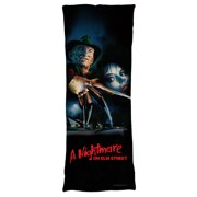 Nightmare On Elm Street Freddy Poster Microfiber Body Pillow White 18X54