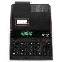 Monroe 8130X In Black 12-Digit Print/Display Professional Heavy Duty Printing Calculator In Extended Life Calculator Body (Calculator, Black)
