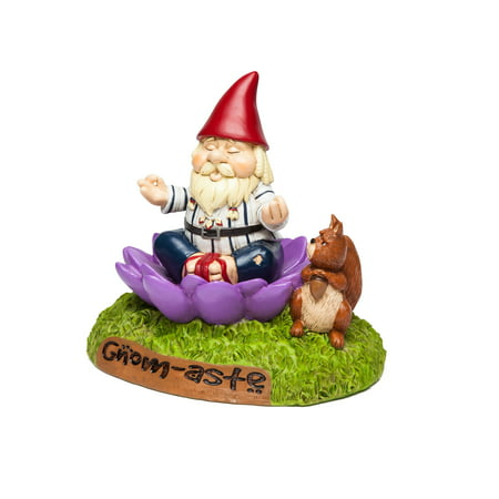 BigMouth Inc. The Gnome-Aste Meditating Garden Gnome - Funny Weatherproof Garden Decoration,...