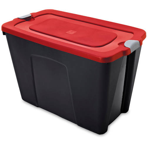 Durabilt 31-Gallon Latching Storage Tote Set, Black