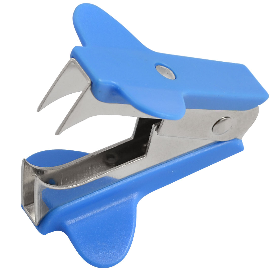 Blue Silver Tone Jaw Style Stationery Staple Remover by Unique-Bargains