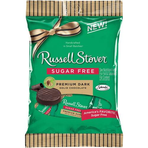 Russell Stover Sugar Free Premium Dark Solid Chocolate, 3 oz