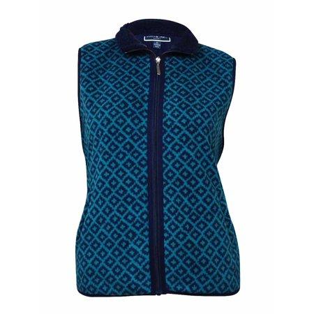 Karen Scott Women's Printed 'Zeroproof Fleece' Zip Vest