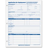 TOPS, TOP32851, Employment Application Forms, 2 / Pack, White