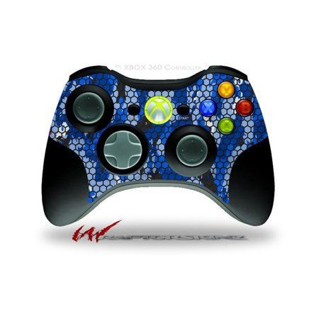 - HEX Mesh Camo 01 Blue Bright - Decal Style Skin fits Microsoft XBOX 360 Wireless Controller (CONTROLLER NOT INCLUDED) by WraptorSkinz