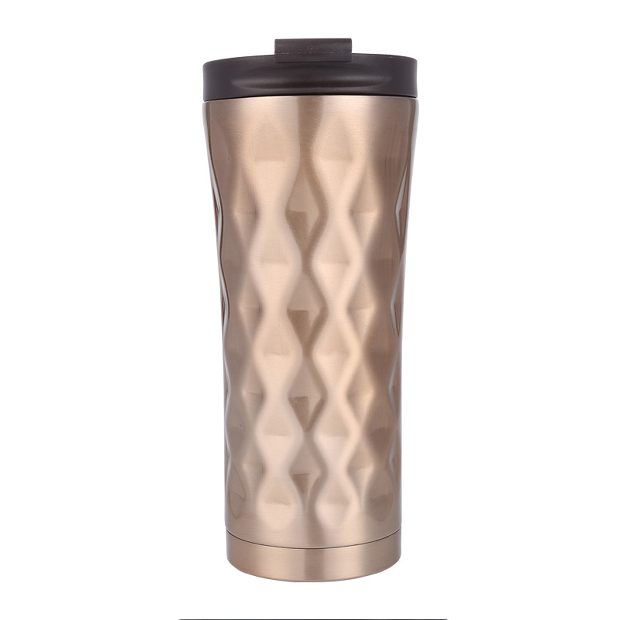500ML Double Walled Tumbler Cup w//Straws Stainless Steel Water Bottle Vacuum Mug