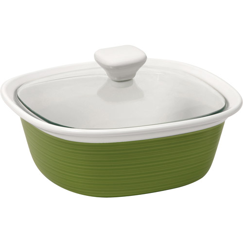 Corningware Etch 1.5-Quart Square Dish with Glass Cover