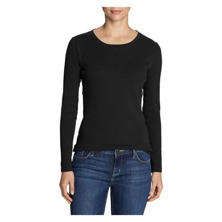 Eddie Bauer Women's Favorite Long-Sleeve Crewneck T-Shirt Eddie Bauer Short Sleeve Shirt