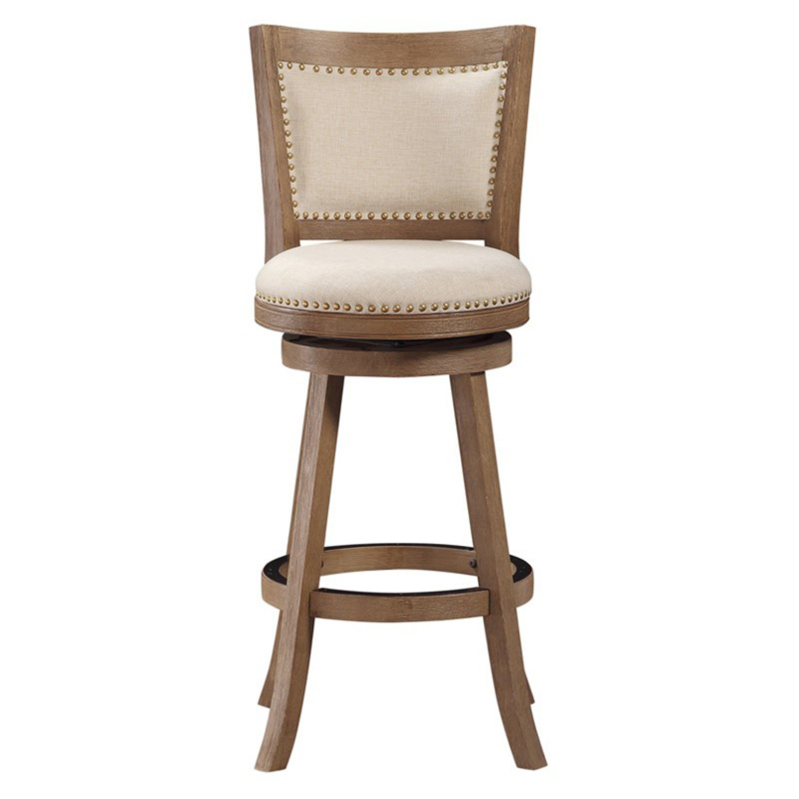 Boraam 29 Quot Melrose Swivel Bar Stool Nailhead Driftwood