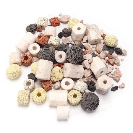 Ceramic Filter Rings - Moaere 420g Biological Ring Ball Group Filter Materia Ceramic Rings Filtration Media for Fish Tank
