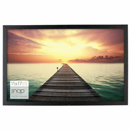 "11"" x 17"" Black Snap Wood Frame"