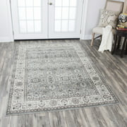 """Rizzy Home ZH7093 Gray 5'3"""" x 7'6"""" Power-Loomed Area Rug"""