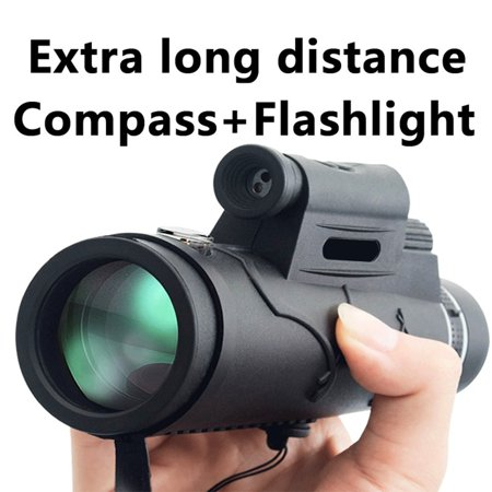 2019 New Upgrade 50X60 Extra Long 1800M/9900M Flashlight+infrared High - Angle Monocular Telescope Outdoor Hiking Travel Portable Telescope Fashion