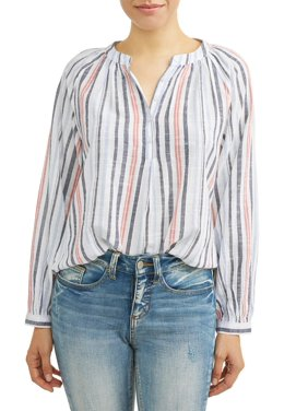 58615245910a03 Product Image Women's Woven Dobby Popover Top