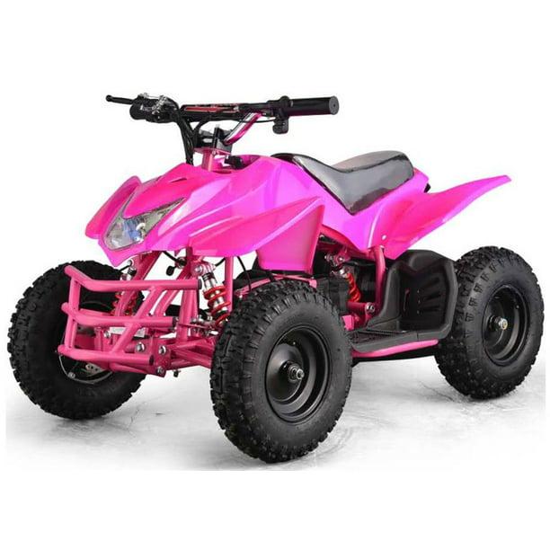 24v mototec titan wheeler four v5 pink quad mini atv battery powered walmart